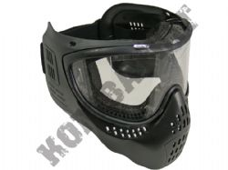Airsoft BB full face tactical safety mask and goggles set in black